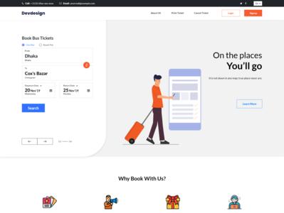 Dev Travel Ticket Upcoming freebie UI