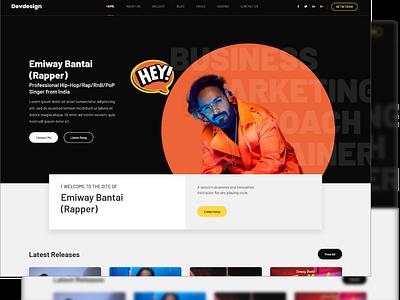 Upcoming New Freebie Emiway Bantai Web UI branding website minimal xd ux freebie new ui web free bantai emiway emiway bantai