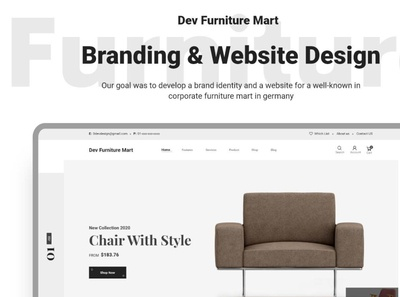 Dev Furniture  eCommerce Website UI Free Download
