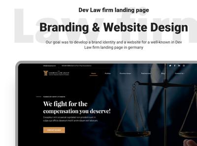 Dev Law Firm Landing Page UPcomming Freebie
