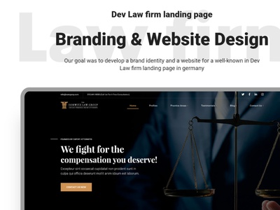 Dev Law Firm Landing Page UPcomming Freebie branding psd xd download freebie devdesign legal lawyer law firm law justice finance counsel consultant barrister advocate adviser accountant design business