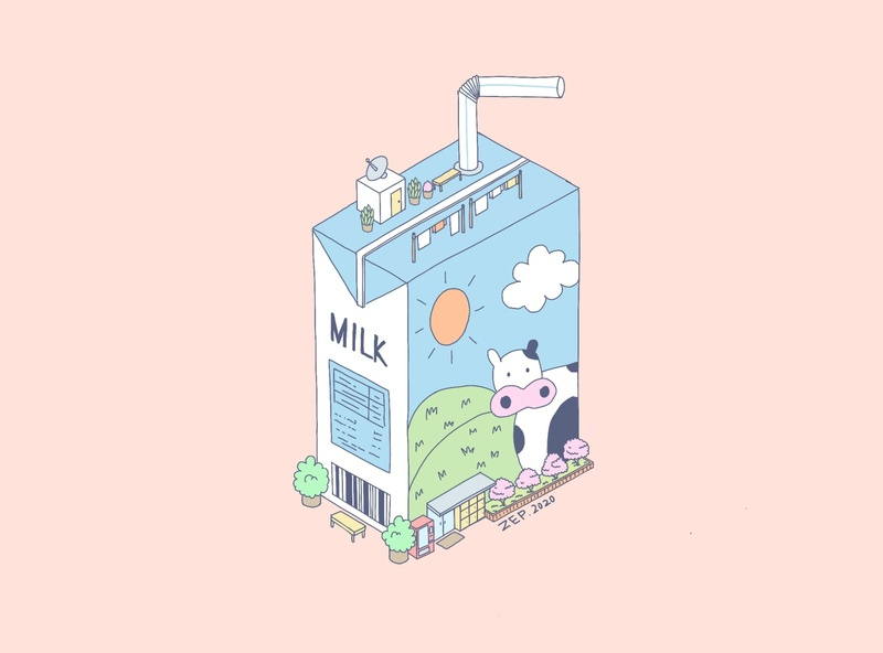 Milk design procreate illustration
