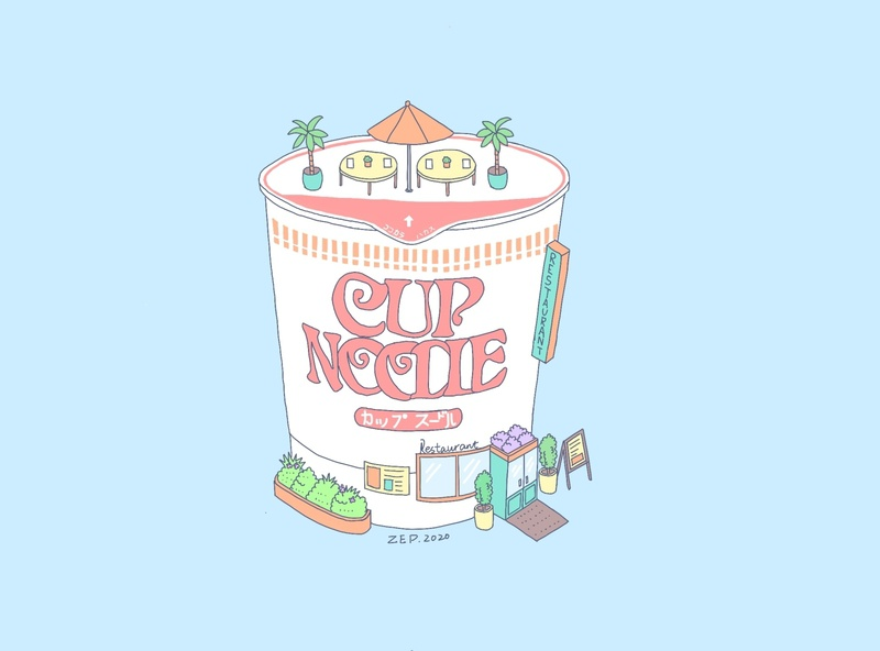 Cup Noodle cupnoodle design illustration
