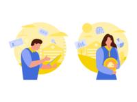 Business Audit And Points Center Illustration
