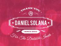 Thank you, Daniel Solana!