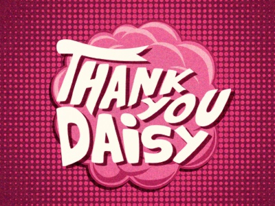 Thank you Daisy Binks dribbble invitation thanks boom halftone daisy binks