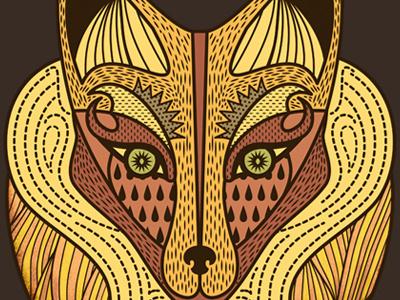 Fox fox graphic illustration pattern animal
