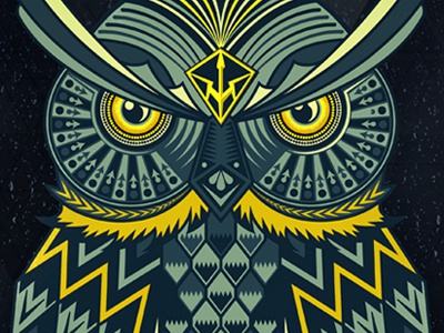 Owl owl animal pattern geometric graphic illustration