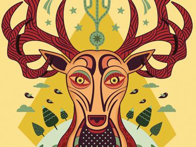 Deer deer animal pattern graphic illustration