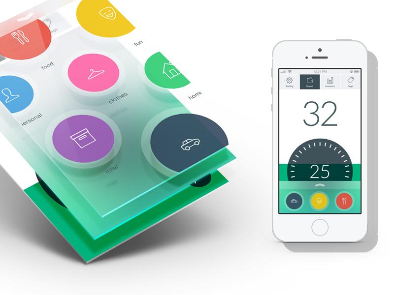 Budget App ux ui finance banking app iphone