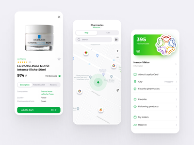Pharmacy tabs design online android store mobile app mobile ui product map profile pharmacy flutter ios shop mobile design app design ux ui mobile app