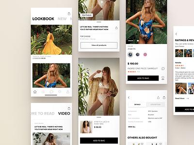 InstaShop responsive design studio design user experience minimalism inspiration instagram store online shop review application concept product ios shop mobile design ux ui mobile app
