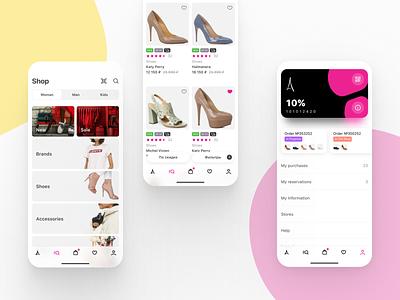 Multi-brand shop catalog card profile product ios design store shop mobile design ui ux mobile app