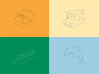 Travel linework icons
