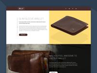 Billy – Wallet Shop PSD Template (Freebie)