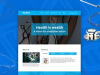 Medino – One page Medical PSD Template - Freebie