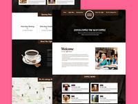 Coffee Shop Responsive HTML Template - Freebie