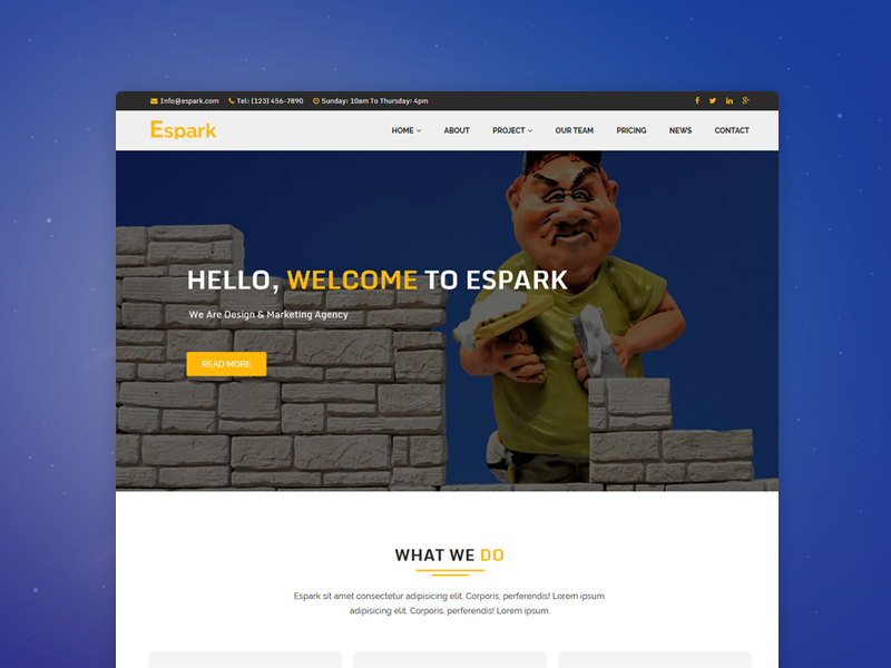 Espark - Onepage Multipurpose Bootstrap Template travel event creative business corporate website template themeforest html multipurpose bootstrap onepage