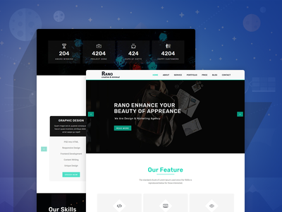 Rano – Onepage Parallax HTML Template