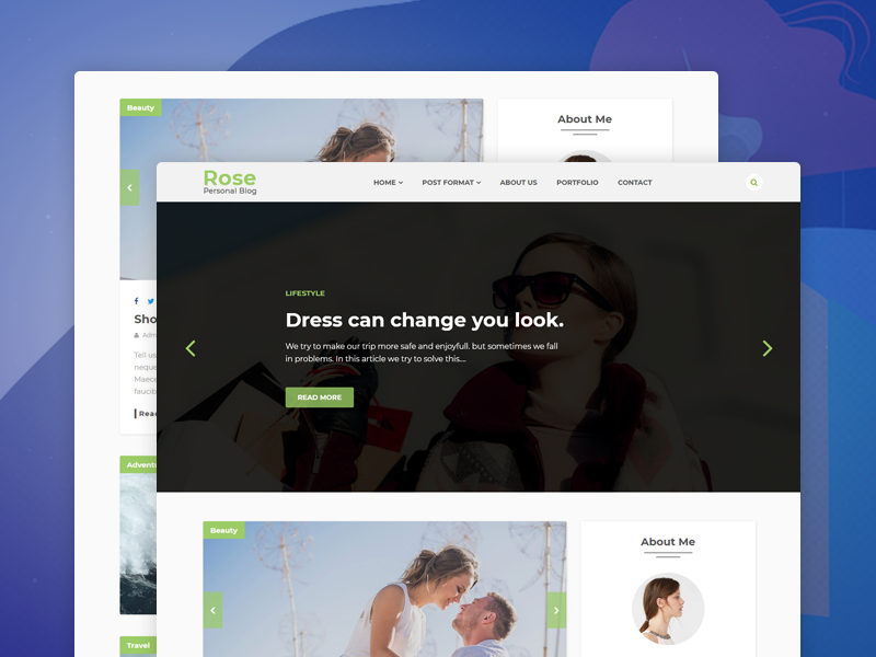 Rose – Personal Blog HTML Template travel post personal minimal html5 css3 creative buddypress bootstrap bloger blog article