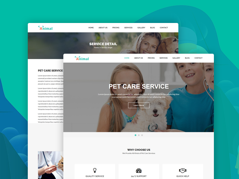 Animal – Pet Care HTML5 Template pet salon pet hospital boarding animal shop animal services dog care pet care pet animal care animal