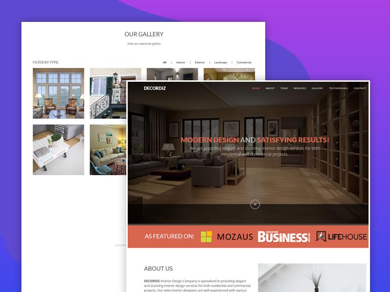 Decordiz – Interior Design Template dotthemes website template freebie free gallery isotop house architecture portfolio interior design interior interactive