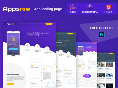 AppsRow – App Landing Page Template
