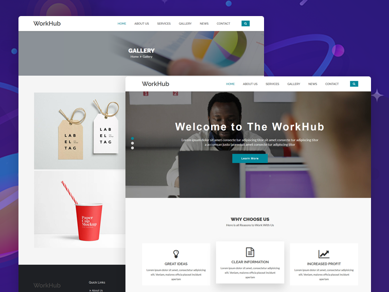Workhub business html5 template by dot themes dribbble workhub is a clean html5css3 template suitable for business professional company and consulting services you can customize it very easy to fit your flashek Choice Image