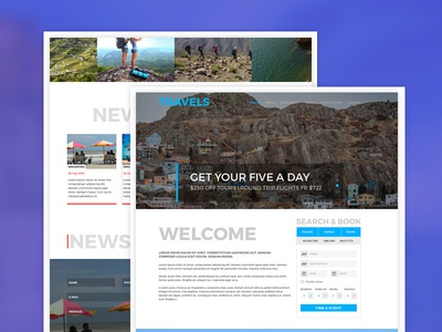 Tour, Travel & Travel Agency Free PSD Template