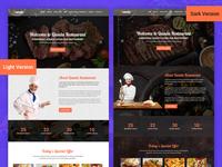 Qanda- Restaurant Onepage Psd Template