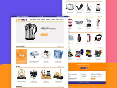 Easybuy- Ecommerce Landing Page Psd Template Free Download