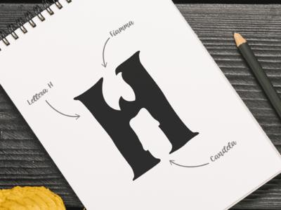 H is for Halloween! paper logo idea logo concept sketch logo sketchbook logo design logo h halloween halloween logo halloween