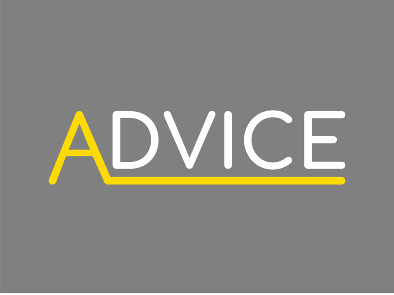 Advice Logo color typography design letter logo