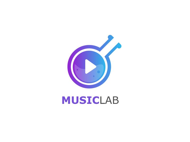Musiclab app branding brand logodesign laboratory musiclab lab music design icon color logo