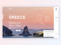 Daily UI #003 - Landing page challenge destination adobe xd trip pink travel agency web design travel vacation greece ui daily dailyui