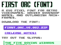 Dcecile.Github.Io First Orc Font