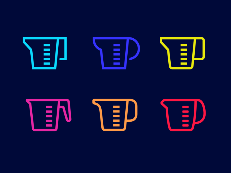 measuring cup pictogram color icon measuring cup cup measuring