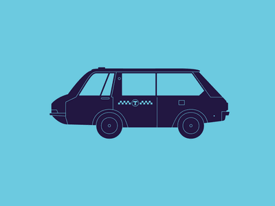 Taxi color graphics pictogram illustration icon taxi