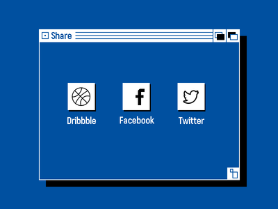 010 Daily Ui Social Share share oldschool old interface social share daily ui