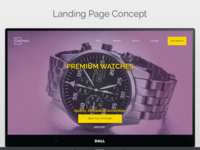 DailyUI #003 Landing Page Concept