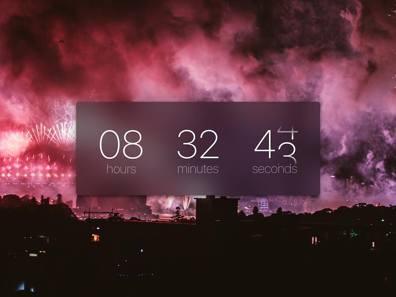 DailyUI #014 Timer UI Concept countdown timer daily ui dailyui