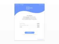 DailyUI #017 Email Receipt Concept