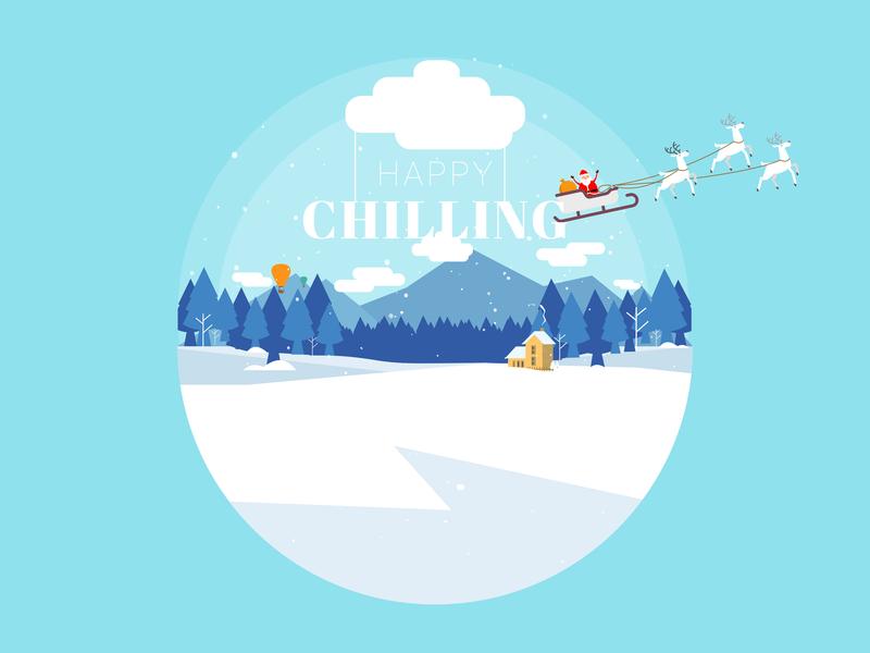 Illustration - Happy Chilling vector design illustration