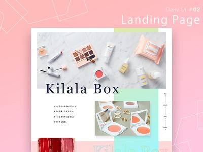 Daily UI #003  Landing Page landingpage web dailyui ui