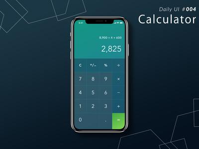 Daily UI #004 Calculator app ui dailyui