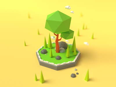 Low Poly Trees isometric lowpoly trees funny cute art blender art blender 3d blender3d blender cute color clean art render 3d artist 3d art 3d illustration graphic design design