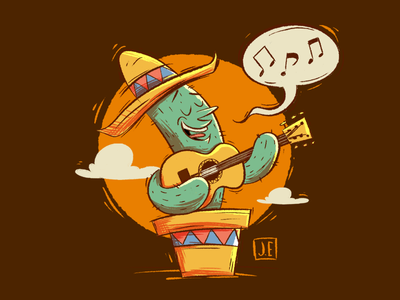 Cacto Music brazilian artist brazilian art creative cool digitalart photoshop cartoon cute color character art illustration graphic design design