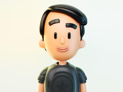 Self b3d blender3d blender character render 3d artist 3d art 3d art illustration graphic design design