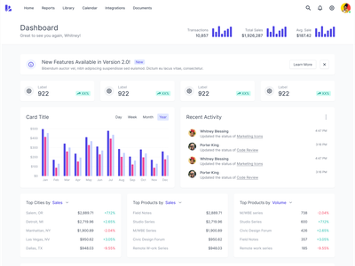 Dashboard Page Pattern stats data table card chart graph dashboard ui innovatemap indianapolis indiana