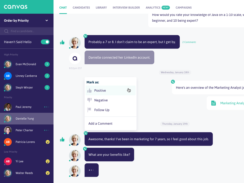 Canvas - Chat Interface by Jon for Innovatemap on Dribbble